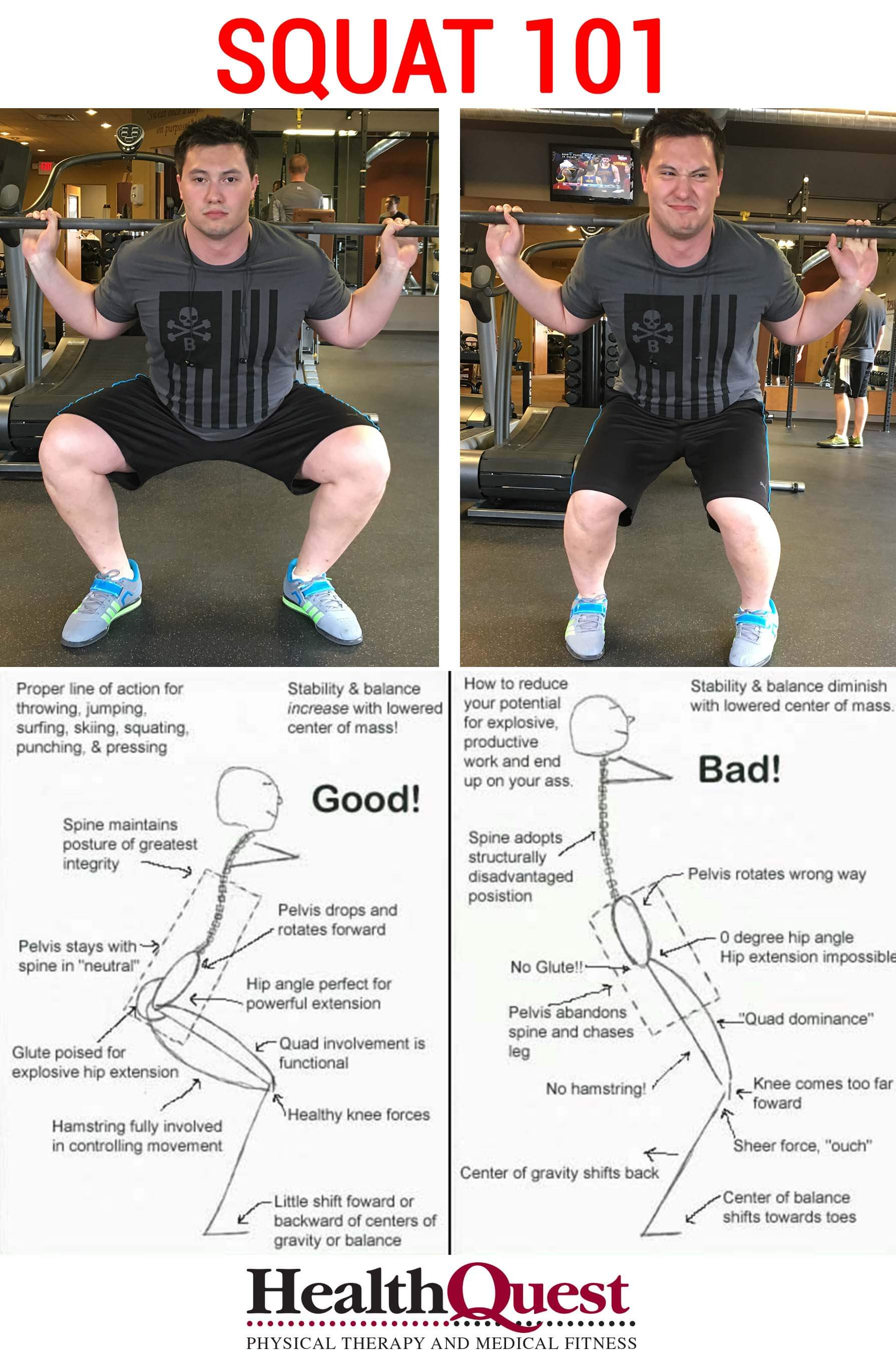 Squat Form Check - HealthQuest Physical Therapy